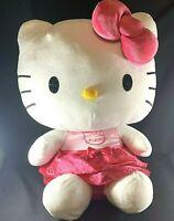 Hello Kitty Large Plush Sanrio 2014 Pink Dress 25 inches Sitting Jumbo Character