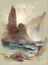 Images of Americana: Tower at Tower Falls, Yelowstone  - Fine Art Print