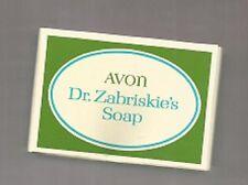 VINTAGE-RARE-AVON COSMETICS DR ZABRISKIE'S SOAP FROM GERMANY 1972--85G EACH-NEW