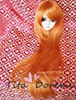 1 3 8-9 Bjd Wig Dal Pullip Blythe SD DZ DOD LUTS Dollfie Doll Long Toy Head Hair