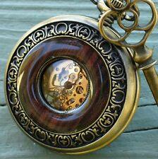 Steampunk Pocket  WATCH KEY Necklace SET Victorian goth