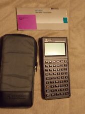 Hp-48S Scientific Expandable Calculator, Equation library card, case, & manuals