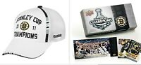 2011 Boston Bruins Stanley Cup Champions Reebok Cap Hat Free Upper Deck Card Set