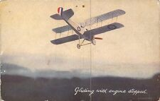 POSTCARD   AVIATION   Gliding  with  Engine  stopped     Tuck