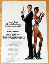 brochure film 007 BERSAGLIO MOBILE - A VIEW TO A KILL Roger Moore Gr. Jones 1985