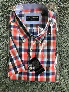 Mens Casa Moda Short Sleeved Checked shirt. Size XXL. Brand New