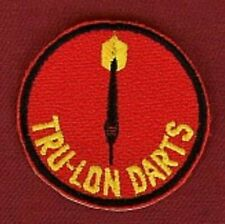 Vintage Tru-lon darts patch RARE patch from 1980s SPECIAL OFFER PRICE