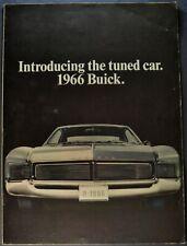 1966 Buick 16pg Brochure Skylark GS Riviera Wildcat LeSabre Electra 225 Original
