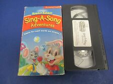 Sing-A-Song Adventures VHS, Reader Rabbit, Learn to Read Words Screen! 22 Min #2