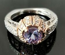 1.85 Purple Tanzanite VS Diamond Engagement/Fashion 18k multi gold ring