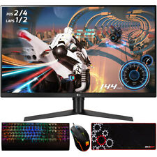 LG 32-inch Class QHD 2560 x 1440 Gaming Monitor w/Gaming Accessories Bundle
