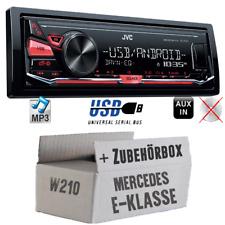 JVC Autoradio für Mercedes E-Klasse W210 4x50Watt Auto Radio Set MP3 USB Android