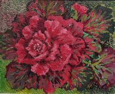 PAINTING ACRYLIC ON CANVAS 24X30CM NATURAL FLOWERS WITH SWAROVSKI CRYSTAL
