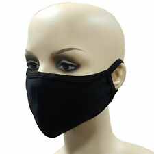 Reusable Face Mask 100% Cotton Washable Breathable Black Nose Mouth Cover