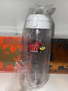 Tervis Illinois State University Emblem Clear Water Bottle w/lid 24 oz (NEW)