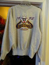 Midwest Sweatshirt Size Large Washington Rose Bowl Gray 1992