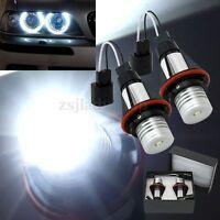 Pair LED HALO RING ANGEL EYE MARKER SIDE LIGHT BULB FOR BMW E53 E65 X5 6000K UK