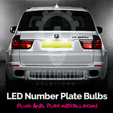 BMW X5 E53 E70 2000-2013 Xenon White LED Number Plate / License Light Bulbs