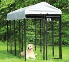 Mr Barker heavy duty metal dog kennel play pen puppy dog cage run pen with roof