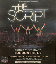 THE SCRIPT  23 FEBRUARY 2018 LONDON THE O2 ADVERT - FREEDOM CHILD TOUR