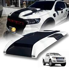 Bonnet Hood Scoop Matte Black+White(A2W) For Ford Ranger Mk2 Px2 XLT 2015-2018