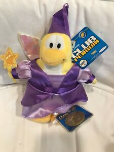 Disney Club Penguin Series 2 FAIRY Plush Doll with Gold Coin and Tag
