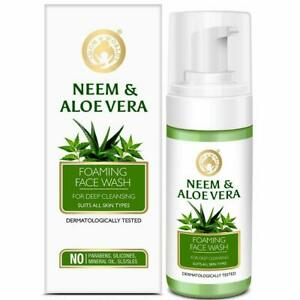 Mom & World Neem & Aloe Vera Foaming Face Wash For Deep Cleansing 120 ml
