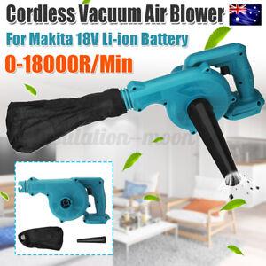 Cordless Variable Speed Leaf Blower Vacuum Cleaner For Makita 18V Li-ion Battery
