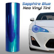 """12""""x72"""" Chameleon Neo Dark Blue Headlight Fog Tail Light Vinyl Tint Film (i)"""