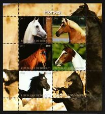 4 DJIBOUTI -2011.ANIMALS. Several breeds HORSES .BLOCK  MNH**.