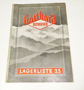 Katalog Gotthard Schuhe Schuhfabrik Pretzfelder & Riexinger Burgkundstadt 1930er