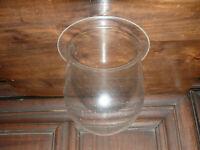 altes Glas  für  Aussenlampe  Griffrand Glas Schiffslampe