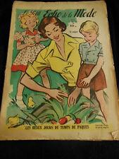 Le petit ECHO de la MODE 1950 n°14 pâques brodez vos chemisers premieres vacance