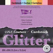 "Coredinations Core Couture Cardstock Pack 6""X6"" 30/Pkg-Glitter"
