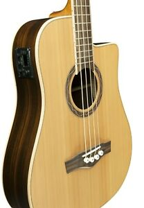 Eko MIA Bass CW EQ Selected Solid Cedar Top Electro Acoustic Bass Guitar New