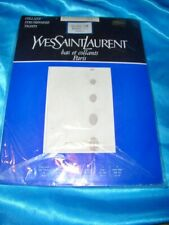 Yves Saint Laurent gemusterte Feinstrumpfhose Gr. 36-38 perle Collant Tights OVP