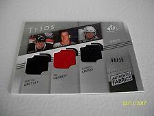 WAYNE GRETZKY SP GAME USED TRIOS 08-09 HOWE-CROSBY  06/25