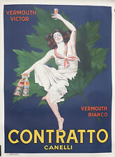"""Original litho second edition """"Contratto Canelli"""" from Cappiello  circa 1950"""