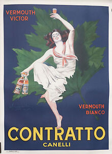 "Original Lithographic 2nd edition ""Contratto"" from Cappiello  circa 1950 RARE"