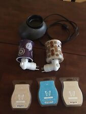 EUC Lot of 3 Scentsy Warmers and wax bars.