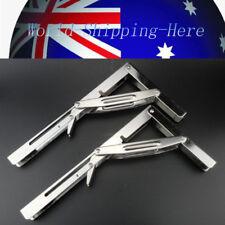 2PCS Heavy Duty Stainless Folding Shelf Bench Table Fold Table Bracket AU Local