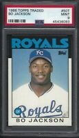 1986 Topps Traded #50T Bo Jackson RC Rookie Card PSA 9 MINT KC Royals