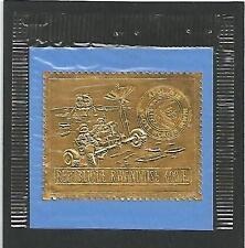 Rwanda Ruanda 1972 Space Weltraumfahrt Apollo 15 embossed stamp on Gold foil MNH