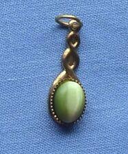 Green Cats Eye Gold Drop Pendant (E)