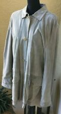 ERMENEGILDO ZEGNA men's - original owner - light blue Suede Leather Jacket.