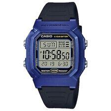 Casio Original W-800HM-2A Azul Digital Reloj de Hombre 100M Wr W-800 Nuevo