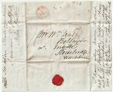 1833 RYE PMK LETTER JOHN PRATT TO WILLIAM LEA STOURBRIDGE HURRICANE & HARVEST