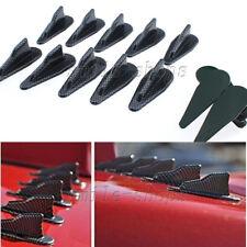 10 x Carbon Fiber Look Car Trunk Roof Spoiler Wing Air Diffuser Shark Fin Sets