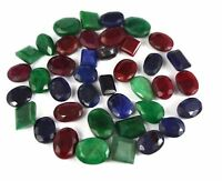 100-5000 Ct Natural Mix Emerald, Ruby & Sapphire Loose Gemstone Wholesale Lot