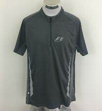 Formula 1 Auto Racing Gray 1/2 Zip Shirt Size XL